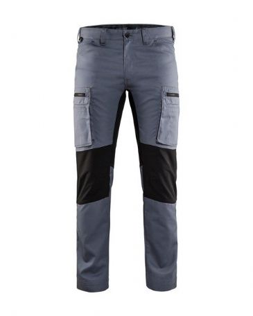 Blaklader 1459 Stretch Service Trousers - 65% Polyester/35% Cotton (Grey/Black)